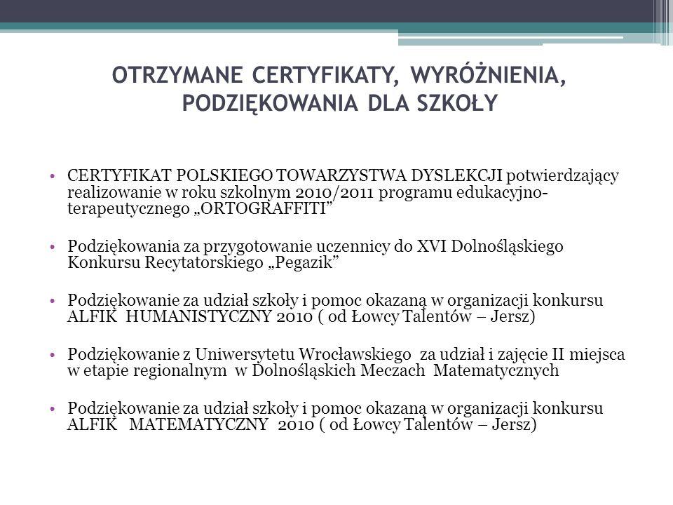 Dolnośląskie Stowarzyszenie na Rzecz Uzdolnionych Nawiązanie współpracy nastąpiło w czerwcu 2011r.