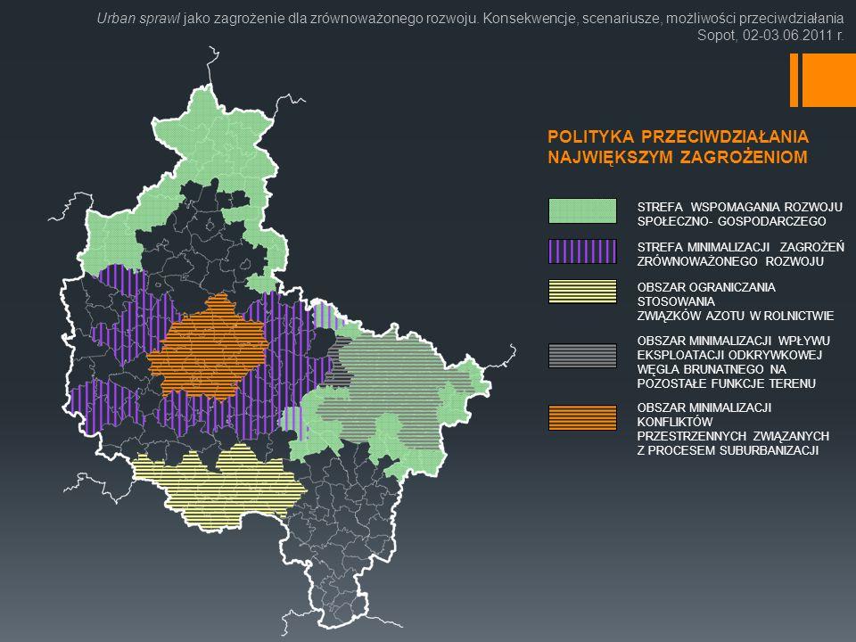 Urban sprawl jako zagrożenie dla zrównoważonego rozwoju.