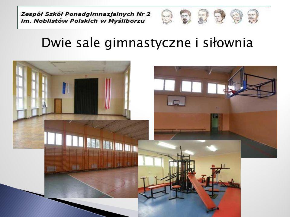 Dwie sale gimnastyczne i siłownia