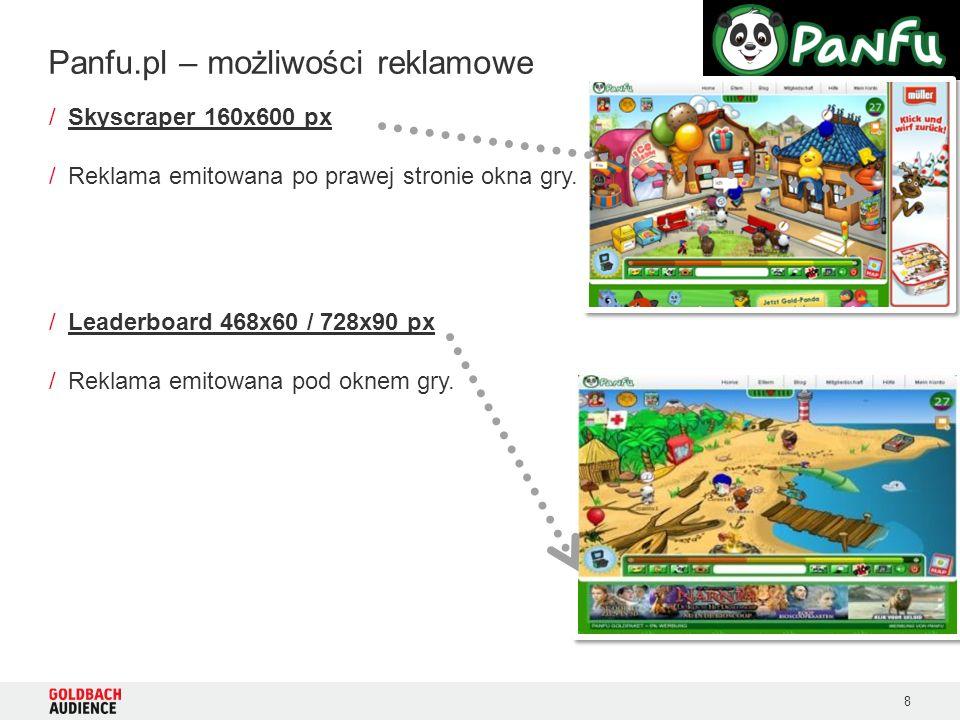 8 /Skyscraper 160x600 px /Reklama emitowana po prawej stronie okna gry.