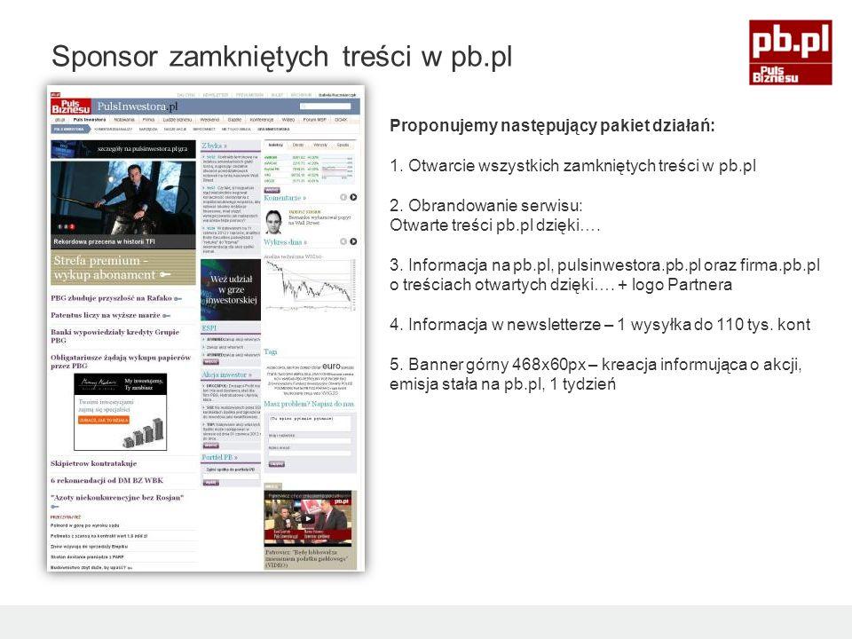 Proponujemy następujący pakiet działań: 1. Otwarcie wszystkich zamkniętych treści w pb.pl 2.