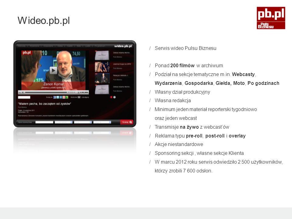 /Serwis wideo Pulsu Biznesu /Ponad 200 filmów w archiwum /Podział na sekcje tematyczne m.in.