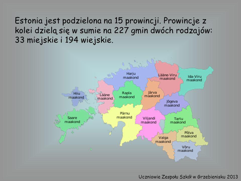 Estonia jest podzielona na 15 prowincji. Prowincje z kolei dzielą się w sumie na 227 gmin dwóch rodzajów: 33 miejskie i 194 wiejskie. Uczniowie Zespoł