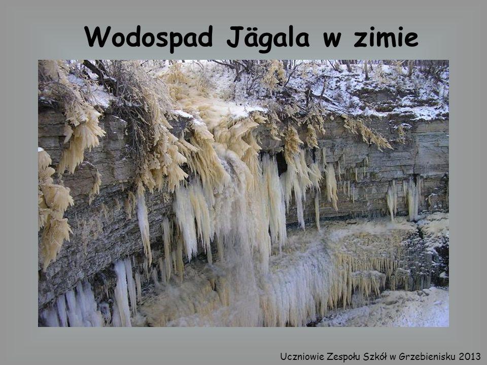 Wodospad Jägala w zimie Uczniowie Zespołu Szkół w Grzebienisku 2013