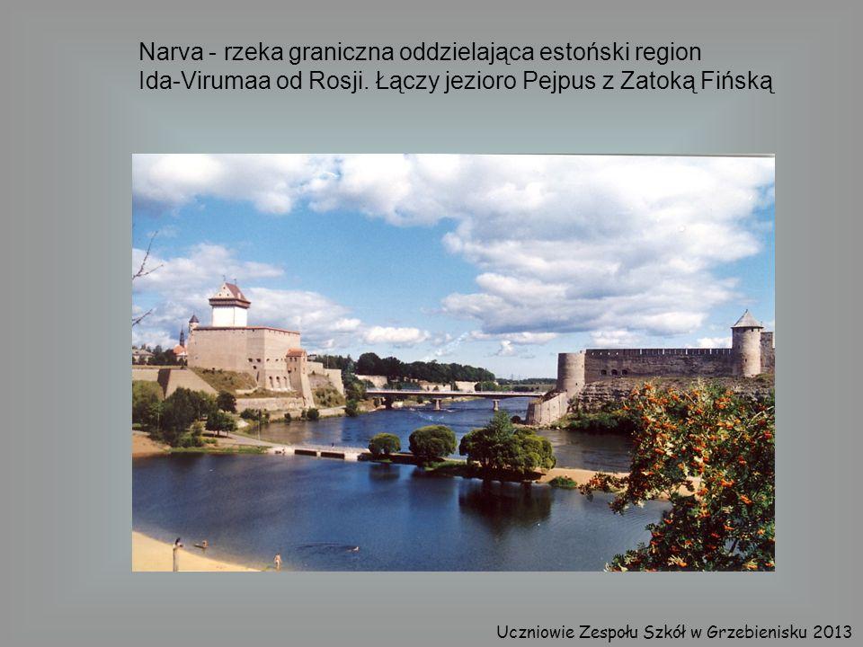Narva - rzeka graniczna oddzielająca estoński region Ida-Virumaa od Rosji. Łączy jezioro Pejpus z Zatoką Fińską Uczniowie Zespołu Szkół w Grzebienisku