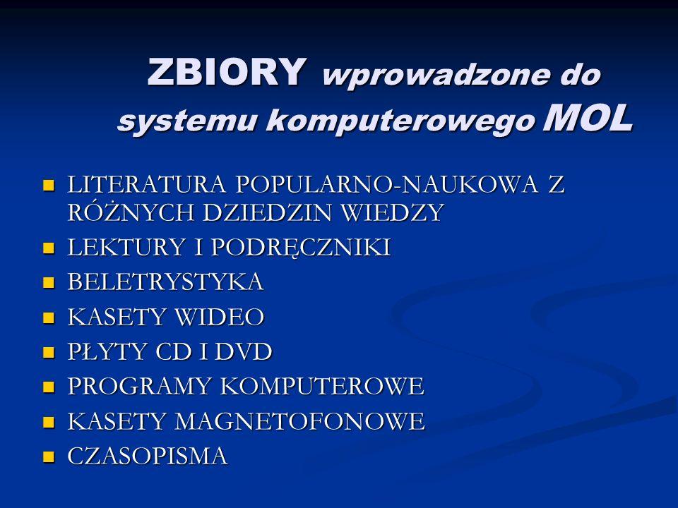 ZADANIA Biblioteka pełni rolę centrum edukacji czytelniczej i medialnej dla uczniów, nauczycieli, rodziców, pracowników Zespołu Szkół nr 23 oraz metodyków Wrocławskiego Centrum Doskonalenia Nauczycieli Biblioteka pełni rolę centrum edukacji czytelniczej i medialnej dla uczniów, nauczycieli, rodziców, pracowników Zespołu Szkół nr 23 oraz metodyków Wrocławskiego Centrum Doskonalenia Nauczycieli Realizuje zadania dydaktyczne i opiekuńczo-wychowawcze szkoły Realizuje zadania dydaktyczne i opiekuńczo-wychowawcze szkoły Wspiera zawodowe doskonalenie nauczycieli Wspiera zawodowe doskonalenie nauczycieli Przygotowuje uczniów do samokształcenia Przygotowuje uczniów do samokształcenia