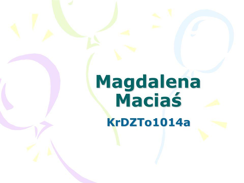 Tekst niesformatowany mam na imie magdalena macias, urodzilam sie w nowym saczu w 1992r.