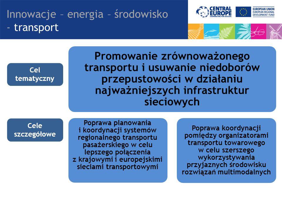 Promowanie zrównoważonego transportu i usuwanie niedoborów przepustowości w działaniu najważniejszych infrastruktur sieciowych Poprawa planowania i ko