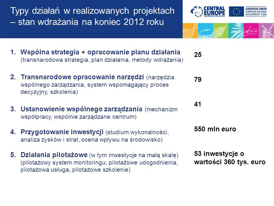1.Wspólna strategia + opracowanie planu działania (transnarodowa strategia, plan działania, metody wdrażania) 2.Transnarodowe opracowanie narzędzi (na
