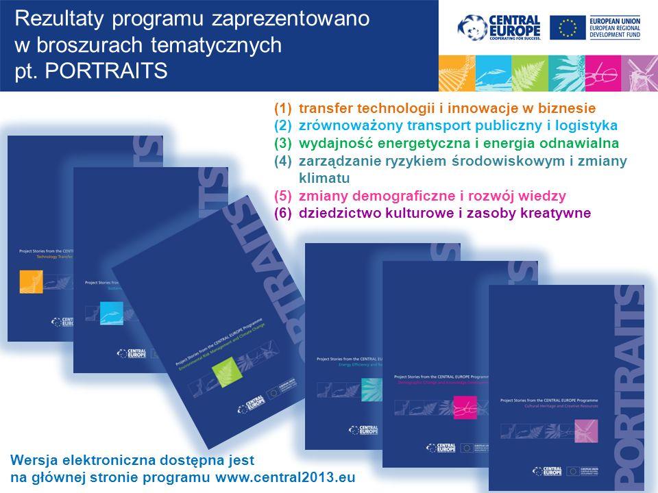 Rezultaty programu zaprezentowano w broszurach tematycznych pt. PORTRAITS Wersja elektroniczna dostępna jest na głównej stronie programu www.central20