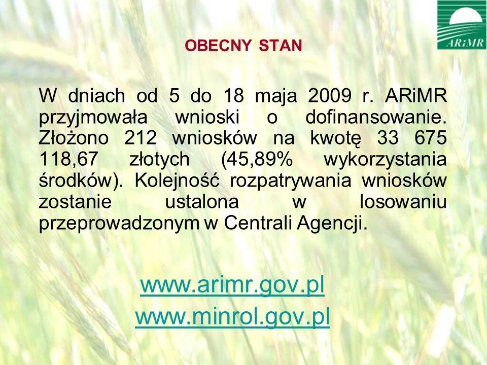 opracował: Bartłomiej Raczek17 OBECNY STAN W dniach od 5 do 18 maja 2009 r.