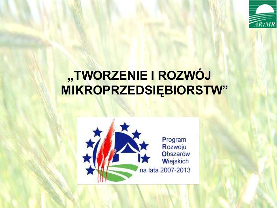 opracował: Bartłomiej Raczek4 TWORZENIE I ROZWÓJ MIKROPRZEDSIĘBIORSTW