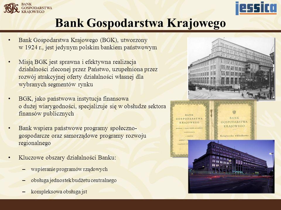Bank Gospodarstwa Krajowego (BGK), utworzony w 1924 r., jest jedynym polskim bankiem państwowym Misją BGK jest sprawna i efektywna realizacja działaln
