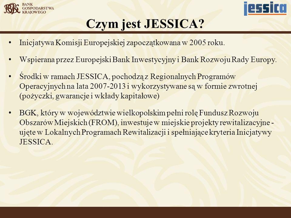 Czym jest JESSICA? Inicjatywa Komisji Europejskiej zapoczątkowana w 2005 roku. Wspierana przez Europejski Bank Inwestycyjny i Bank Rozwoju Rady Europy