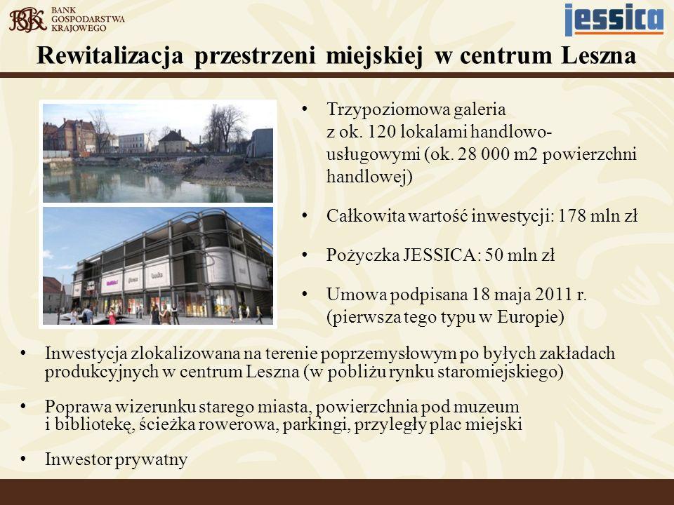 Inwestycja zlokalizowana na terenie poprzemysłowym po byłych zakładach produkcyjnych w centrum Leszna (w pobliżu rynku staromiejskiego) Poprawa wizeru