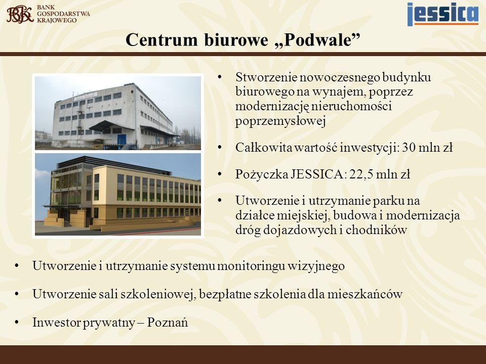 Utworzenie i utrzymanie systemu monitoringu wizyjnego Utworzenie sali szkoleniowej, bezpłatne szkolenia dla mieszkańców Inwestor prywatny – Poznań Stw