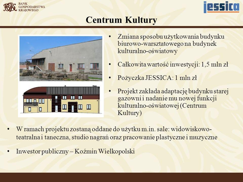 W ramach projektu zostaną oddane do użytku m.in. sale: widowiskowo- teatralna i taneczna, studio nagrań oraz pracowanie plastyczne i muzyczne Inwestor