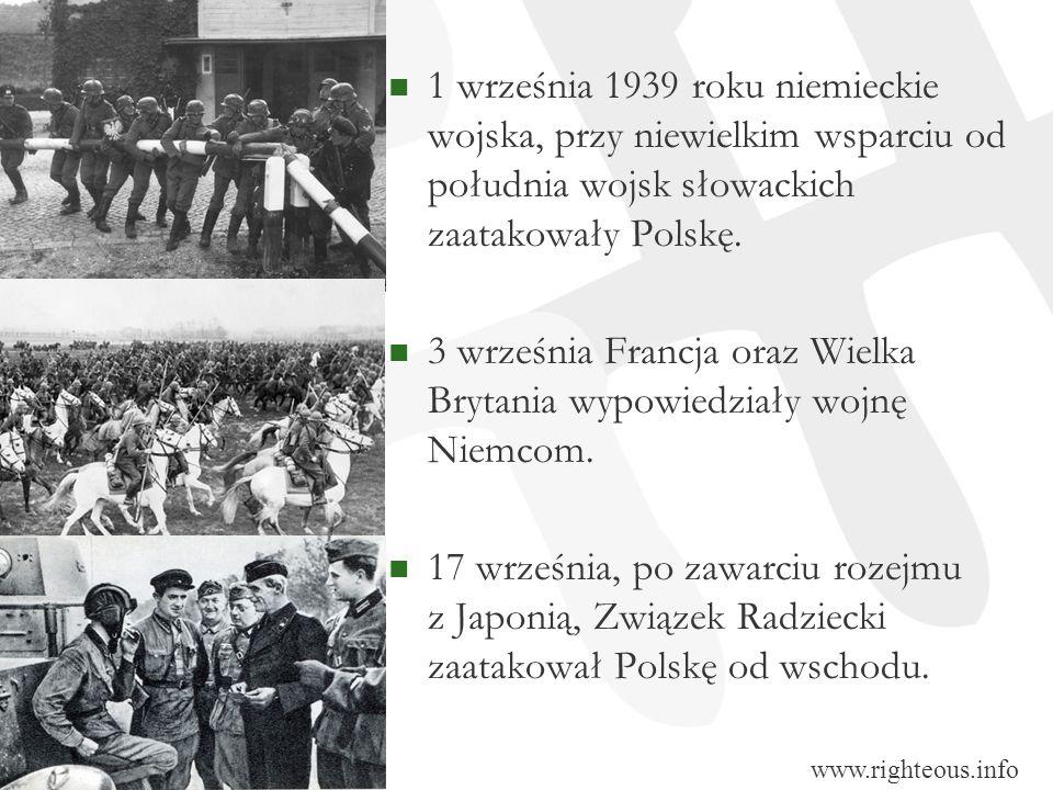 1 września 1939 roku niemieckie wojska, przy niewielkim wsparciu od południa wojsk słowackich zaatakowały Polskę. 3 września Francja oraz Wielka Bryta