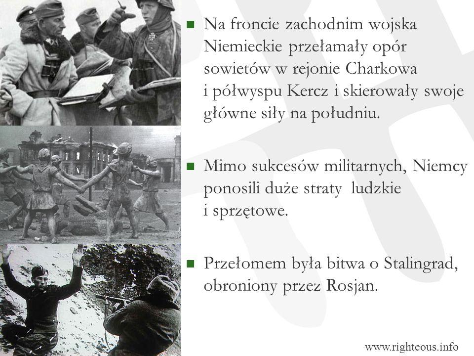 Na froncie zachodnim wojska Niemieckie przełamały opór sowietów w rejonie Charkowa i półwyspu Kercz i skierowały swoje główne siły na południu. Mimo s