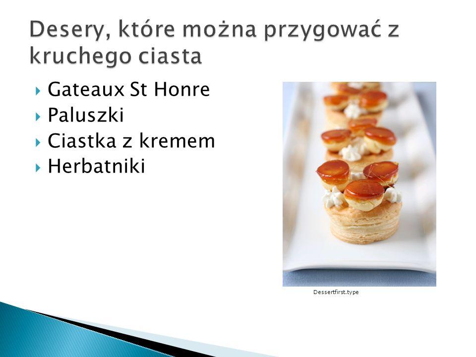 Gateaux St Honre Paluszki Ciastka z kremem Herbatniki Dessertfirst.type