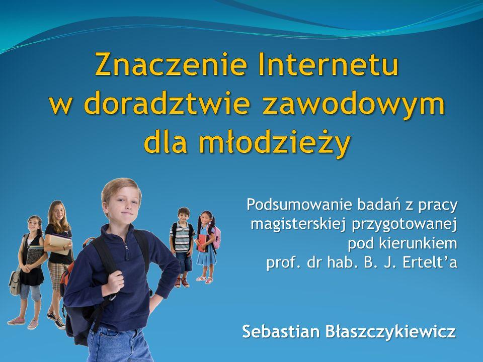 Sebastian Błaszczykiewicz Podsumowanie badań z pracy magisterskiej przygotowanej pod kierunkiem prof.