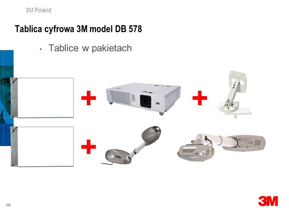 10 3M Poland Tablica cyfrowa 3M model DB 578 Tablice w pakietach ++ +