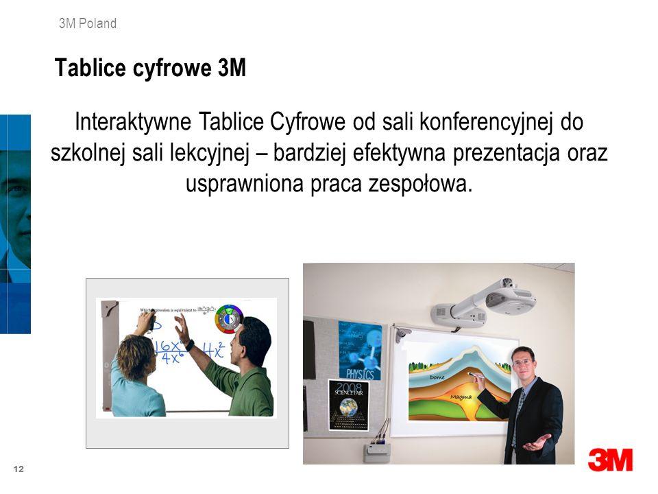 12 3M Poland Interaktywne Tablice Cyfrowe od sali konferencyjnej do szkolnej sali lekcyjnej – bardziej efektywna prezentacja oraz usprawniona praca ze