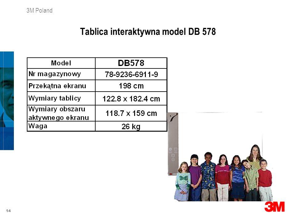 14 3M Poland Tablica interaktywna model DB 578