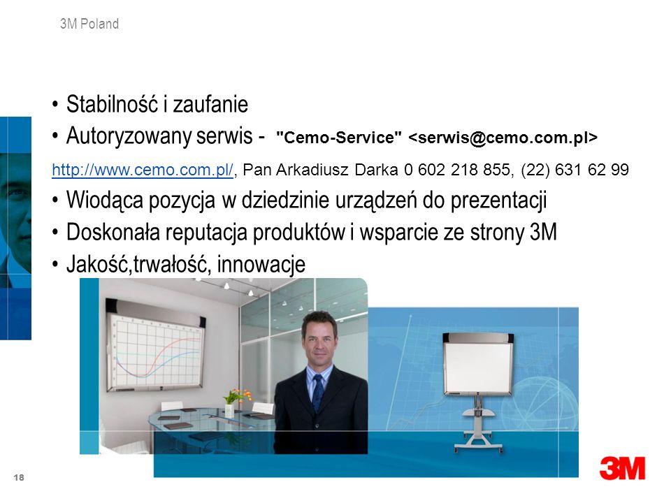18 3M Poland Stabilność i zaufanie Autoryzowany serwis -