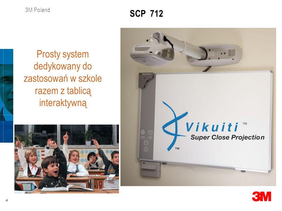 4 3M Poland SCP 712 Prosty system dedykowany do zastosowań w szkole razem z tablicą interaktywną