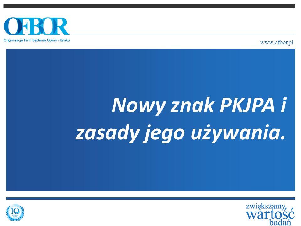 Podstawowy znak graficzny PKJPA używany przez OFBOR w bieżącej komunikacji programu.