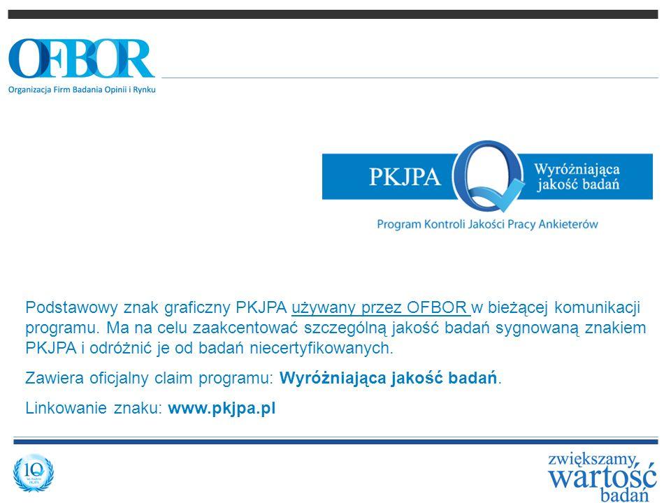 Podstawowy znak graficzny PKJPA używany przez OFBOR w bieżącej komunikacji programu. Ma na celu zaakcentować szczególną jakość badań sygnowaną znakiem