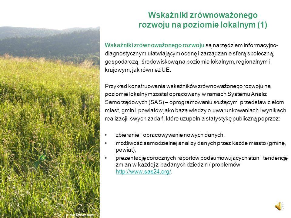 Wskaźniki zrównoważonego rozwoju na poziomie lokalnym fot. Anna Hoffmann-Niedek
