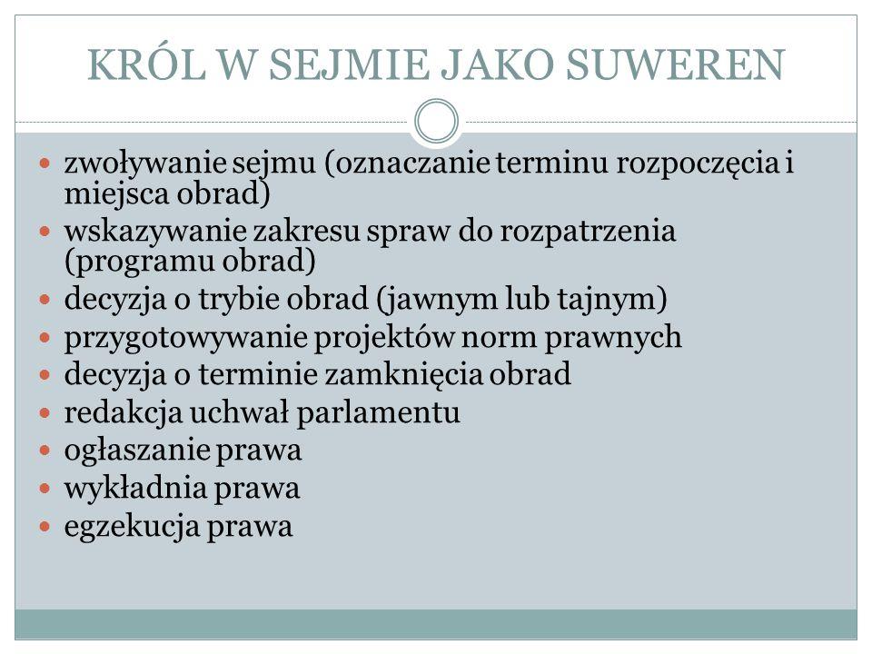 SEJMY ZWYCZAJNE I NADZWYCZAJNE Pkt.7 Artykułów henrykowskich z 1573 roku: 7.