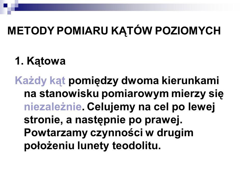 METODY POMIARU KĄTÓW POZIOMYCH 2.