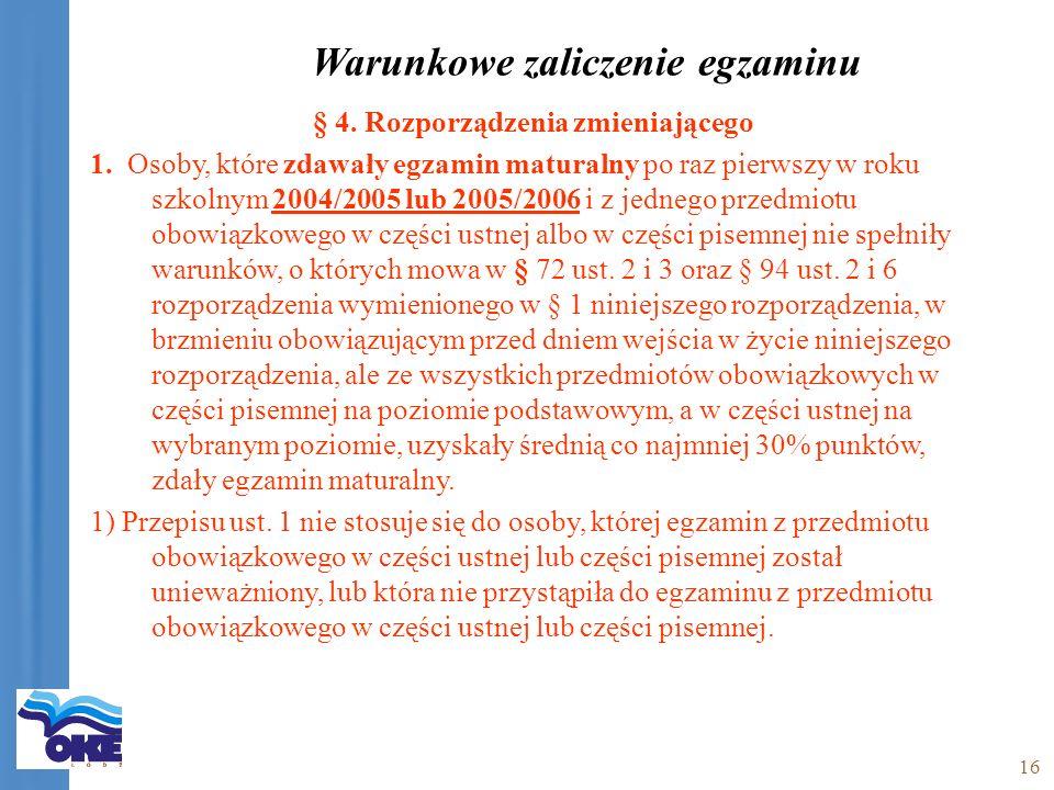 16 § 4. Rozporządzenia zmieniającego 1.