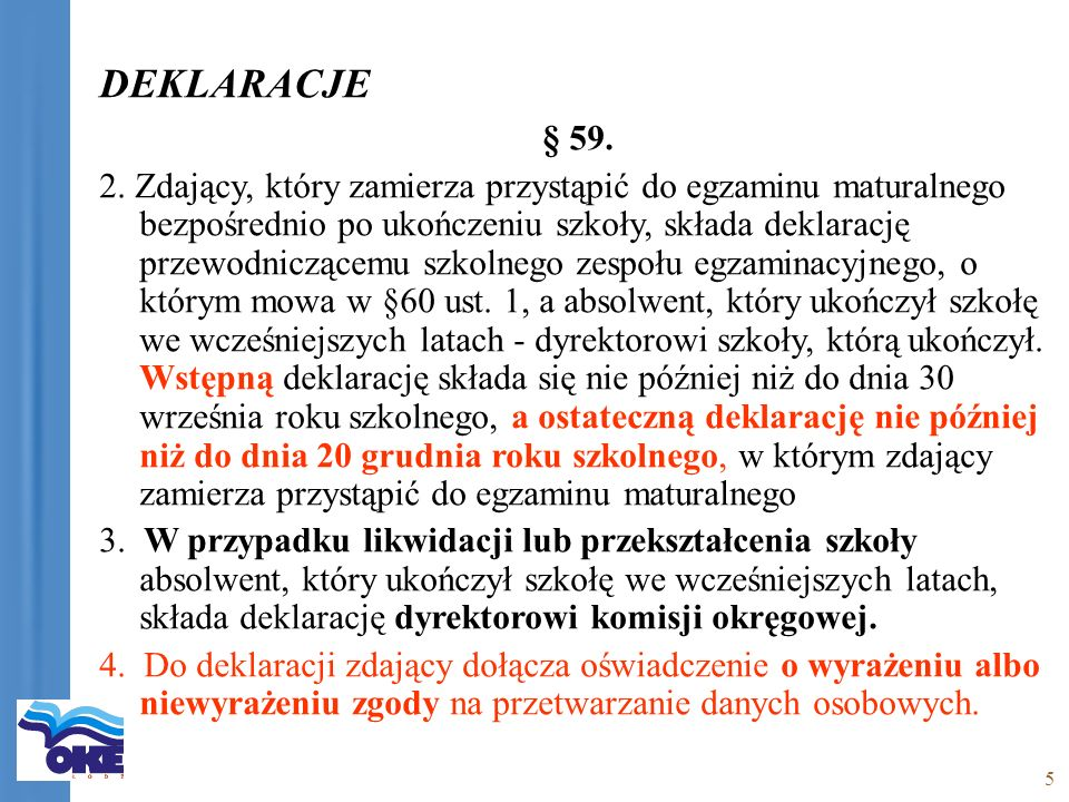 5 DEKLARACJE § 59. 2.
