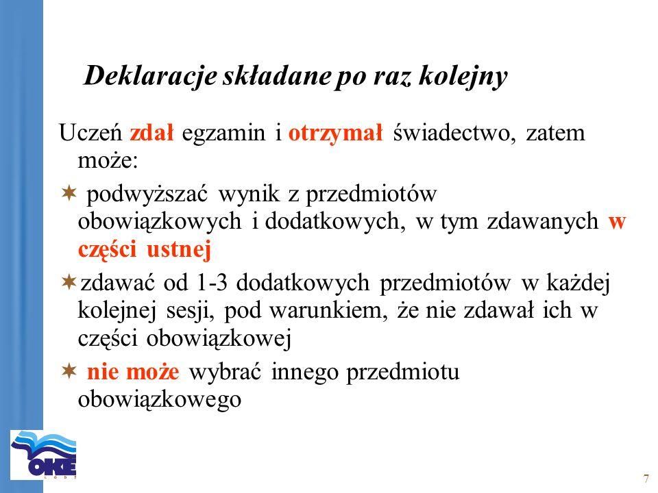 18 Świadectwa dojrzałości w roku szkolnym 2006/2007 § 2.