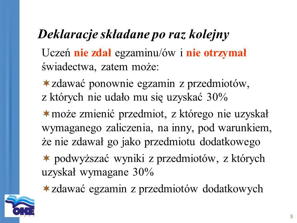 19 Zmiana Podstawa prawna Zmniejszenie listy języków obcych: nie można zdawać j.