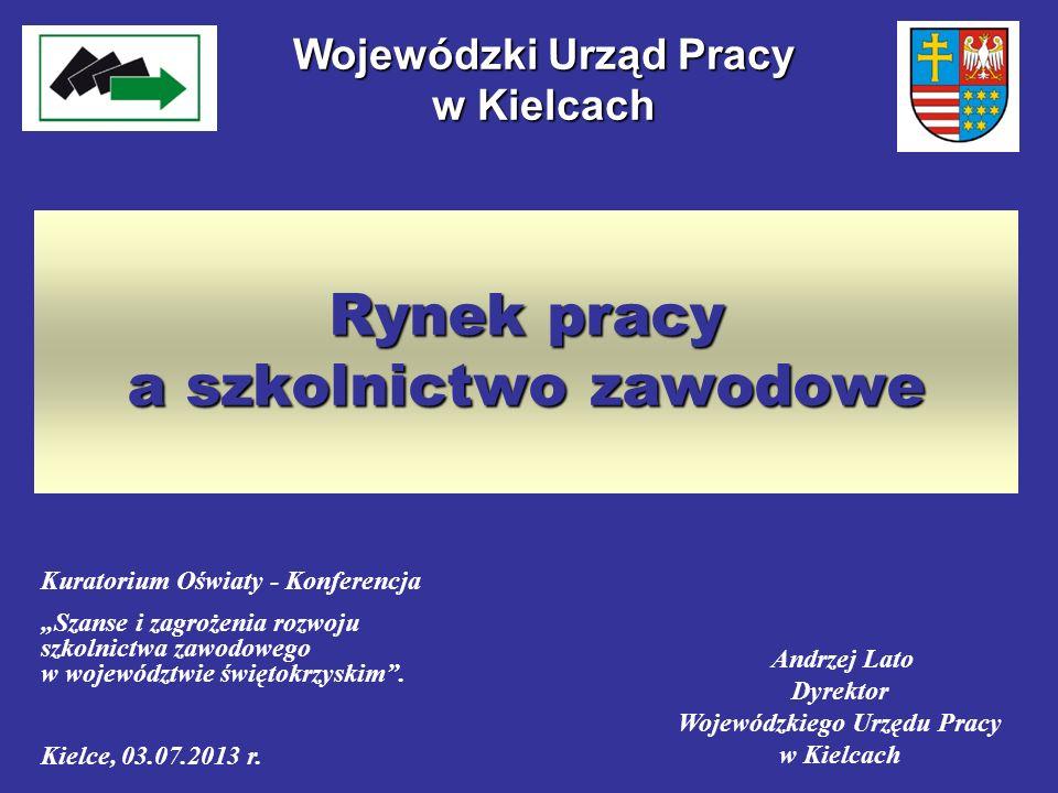 Rynek pracy a szkolnictwo zawodowe Wojewódzki Urząd Pracy w Kielcach Kuratorium Oświaty - Konferencja Szanse i zagrożenia rozwoju szkolnictwa zawodowe
