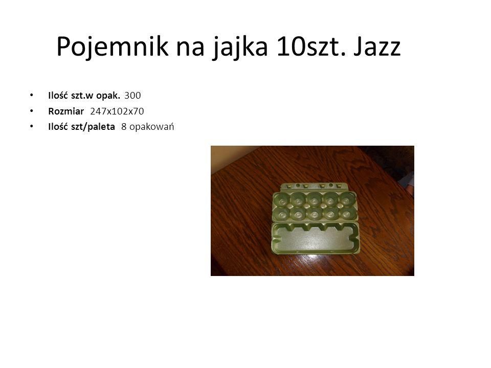 Pojemnik na jajka 10szt. Jazz Ilość szt.w opak. 300 Rozmiar 247x102x70 Ilość szt/paleta 8 opakowań
