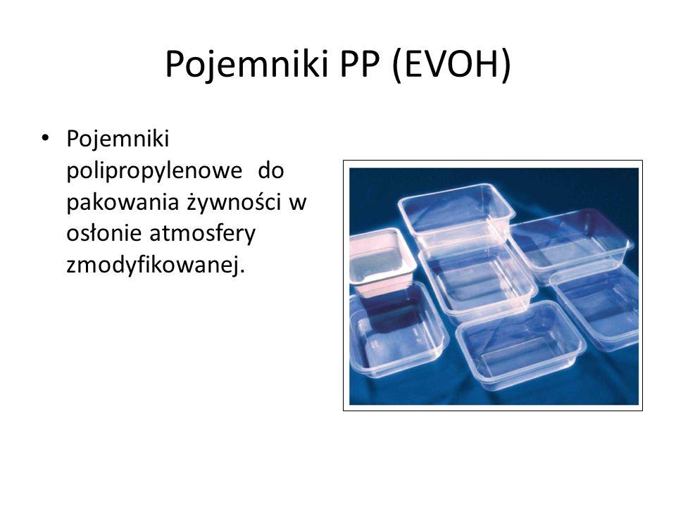 Pojemniki PP (EVOH) Pojemniki polipropylenowe do pakowania żywności w osłonie atmosfery zmodyfikowanej.