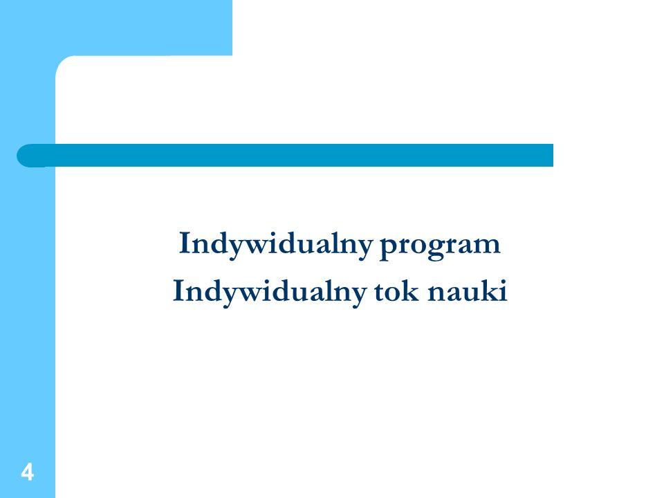 4 Indywidualny program Indywidualny tok nauki