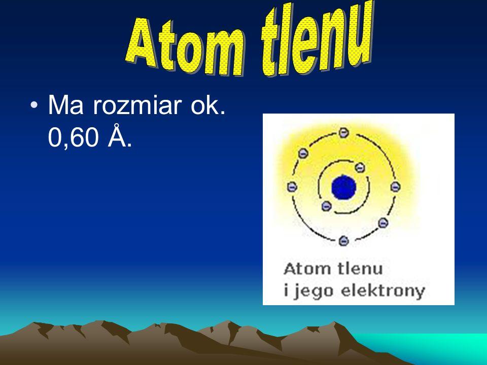 Ma rozmiary zbliżone do 0,37 Å.