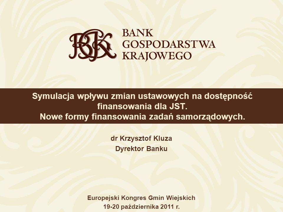 22 BGK jedyną instytucją finansową długofalowo wspierającą podmioty służby zdrowia * Program zakończony w lipcu 2011 r.
