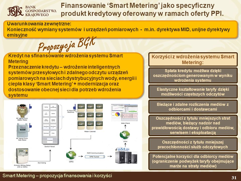 Finansowanie Smart Metering jako specyficzny produkt kredytowy oferowany w ramach oferty PPI.