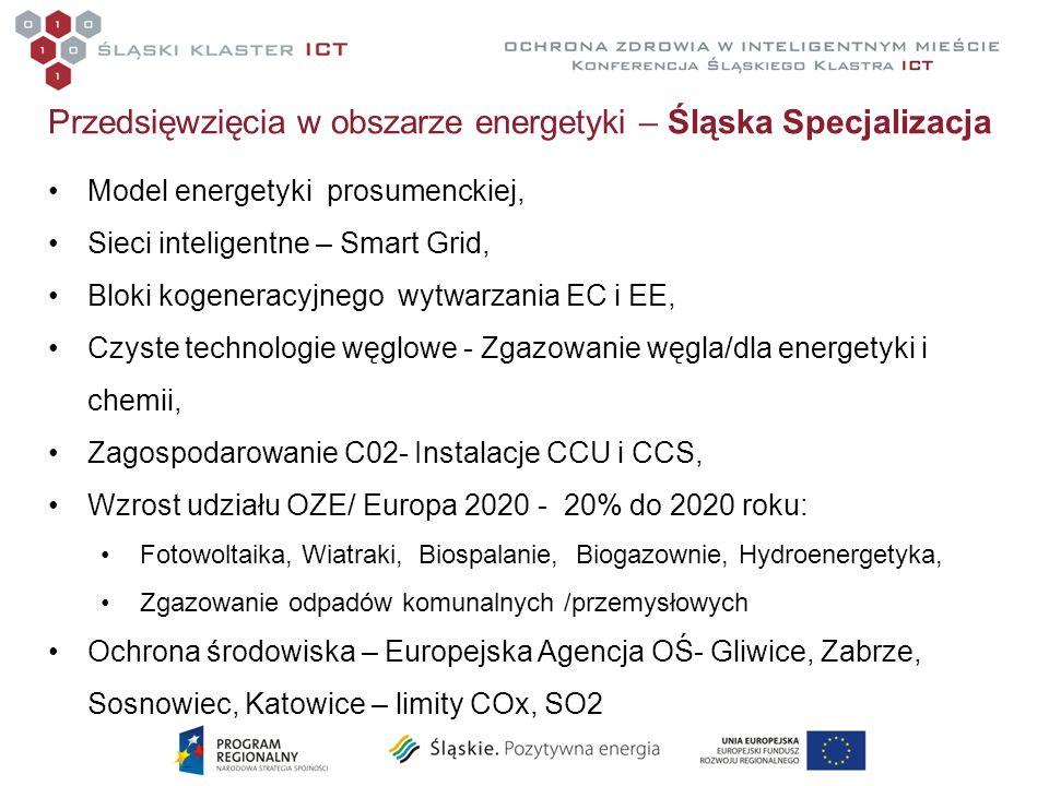 Przedsięwzięcia w obszarze energetyki – Śląska Specjalizacja Model energetyki prosumenckiej, Sieci inteligentne – Smart Grid, Bloki kogeneracyjnego wy