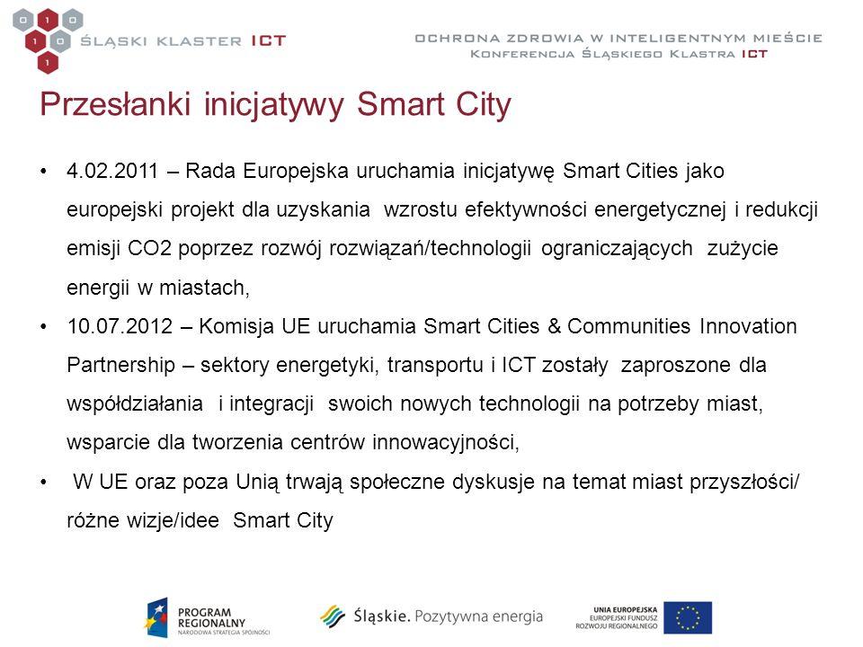 Przesłanki inicjatywy Smart City 4.02.2011 – Rada Europejska uruchamia inicjatywę Smart Cities jako europejski projekt dla uzyskania wzrostu efektywno