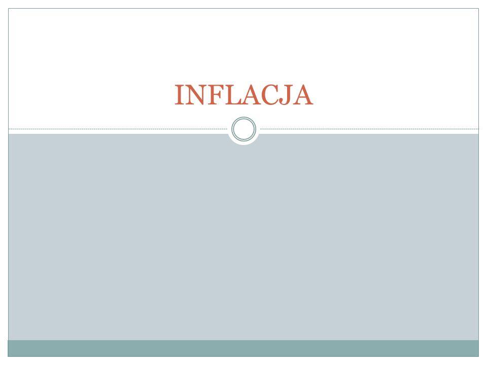 Pojęcie inflacji Inflacja - proces wzrostu ogólnego poziomu cen.