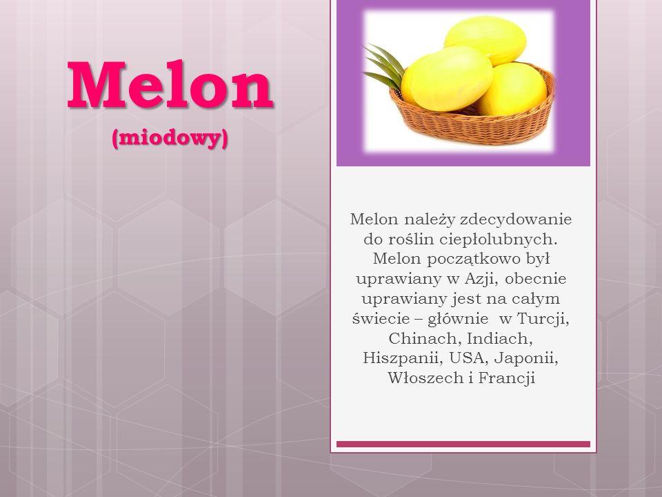 Melon (miodowy) Melon należy zdecydowanie do roślin ciepłolubnych.